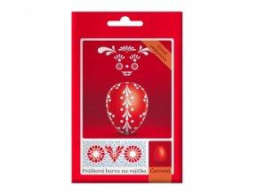 Barva na vajíčka OVO prášková červená