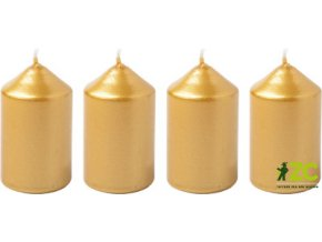 56012 svicka adventni 4x6cm zlata 4ks
