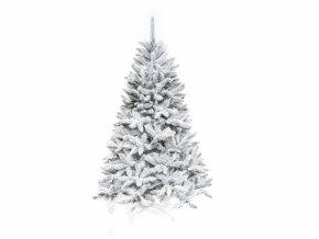 Stromek vánoční SMRK umělý zasněžený + stojan 160cm