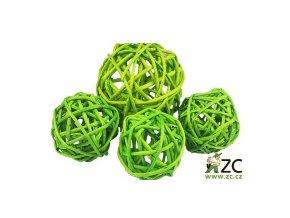 Dekorace - Lata Ball 4cm 4ks - zelený