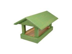 46460 krmitko c 12 drevene zelene 24x40x20cm