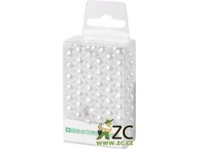 Dekorační perly 8mm (144ks) - bílé
