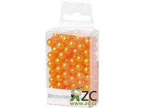 Dekorační perly 8mm (144ks) - meruňkové