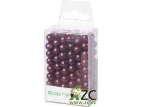 Dekorační perly 8mm (144ks) - tmavě fialové