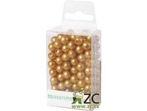 Dekorační perly 8mm (144ks) - zlaté