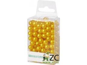 Dekorační perly 8mm (144ks) - žluté