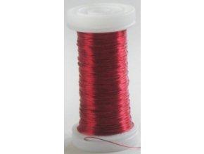 Drát dekorační měděný 0,3mm x 50g - červený