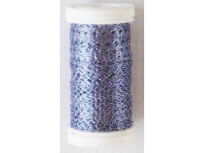 Drát dekorační zvlněný 0,3mm x 50g - fialový