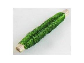 Drát měděný - 0,5mm x 100g - zelený