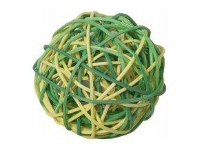 Koule aranžovací proutěná 6cm (6ks) - zelená a žlutá