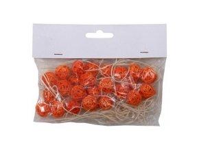 Koule aranžovací ratanová 1,5cm (24ks) - sv. oranžová