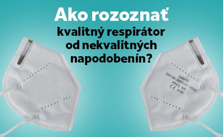 Ako rozoznať nekvalitný respirátor