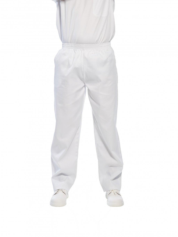 Nohavice biele na gumu