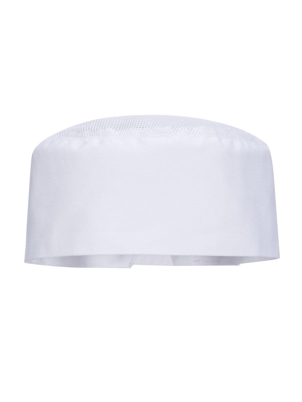 Kuchárska čiapka s vetraním biela