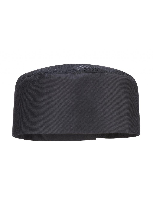 Kuchárska čiapka s vetraním čierna
