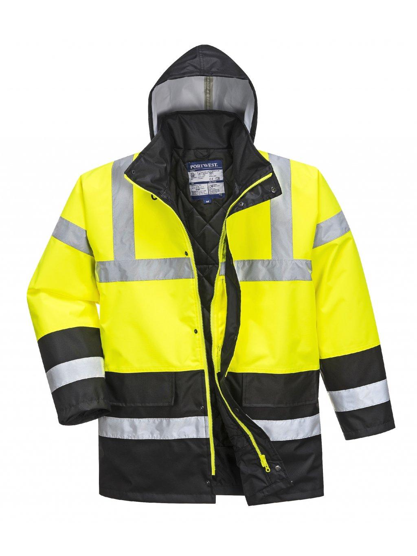 Zimná reflexná bunda žlto-čierna