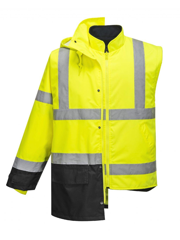 Reflexná zimná bunda 5v1