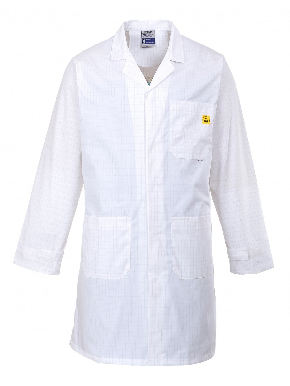 AS10 ESD antistatický plášť biely