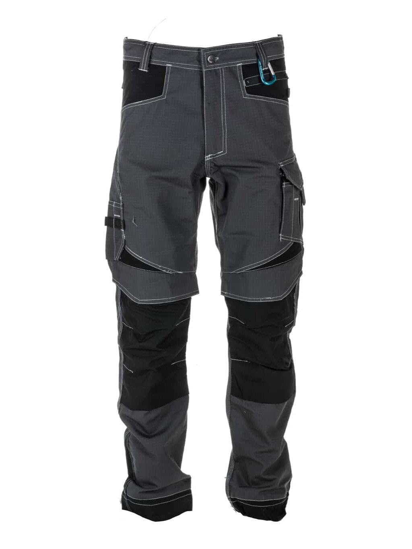Industrial nohavice sivé pracovné ochranné ripstop