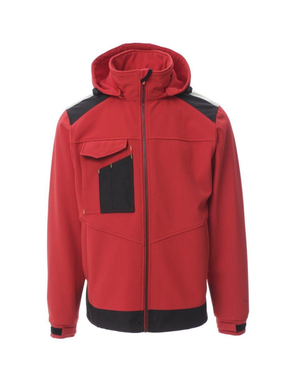 Performer softshellová bunda červená