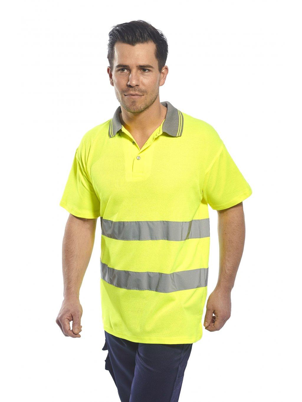 Polokošeľa Cotton Comfort S171 žltá reflexná