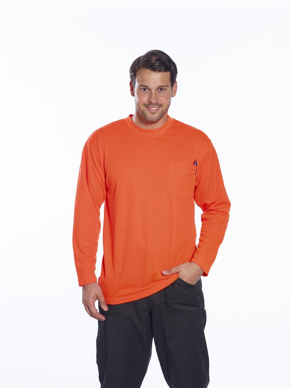 Tričko reflexné s vreckom a dlhým rukávom