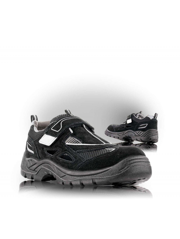 AMSTERDAM O1 sandále čierne