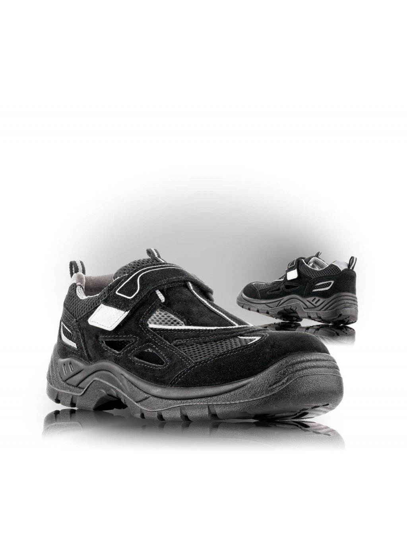 AMSTERDAM S1 SRC bezpečnostné sandále čierne