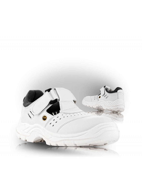 BERN sandále biele bez špice