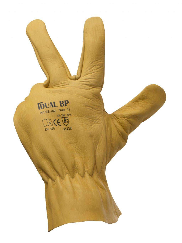 Kožené nepremokavé rukavice DUAL BP