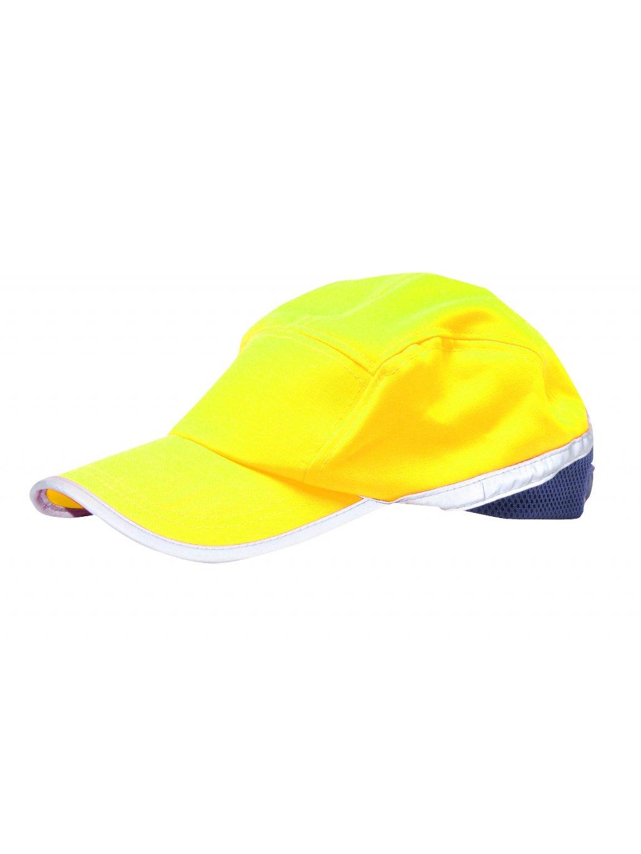 Šiltovka reflexná Baseball žltá
