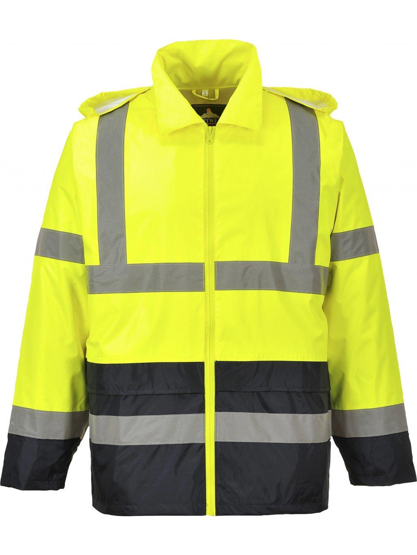 Reflexná bunda do dažďa žltá