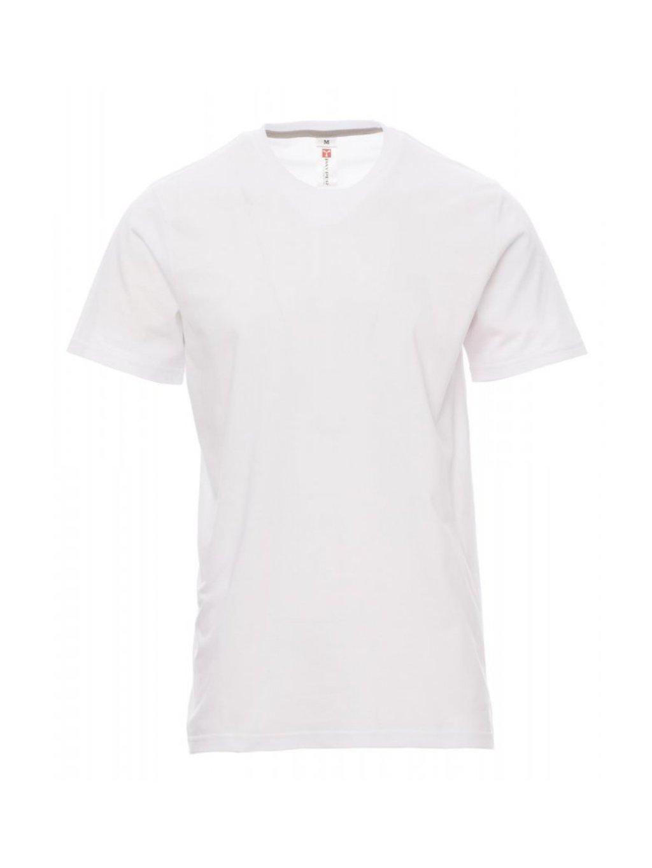 Pánske úpletové tričko SUNSET biele