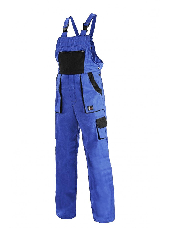 Nohavice dámske s náprsenkou modré