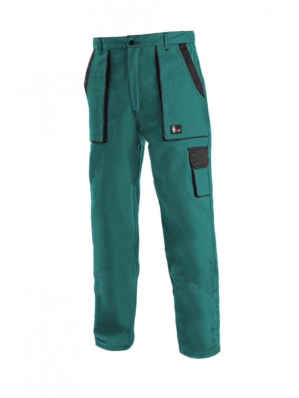 Nohavice do pása dámske zelené