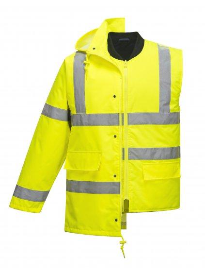 TRAFFIC reflexná bunda 4v1 žltá