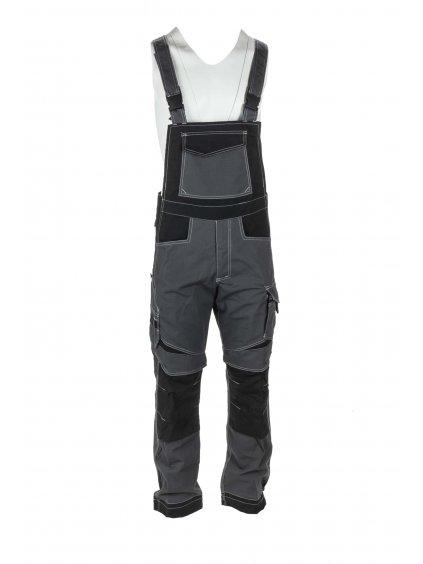 Industrial nohavice sivé trakové Ripstop