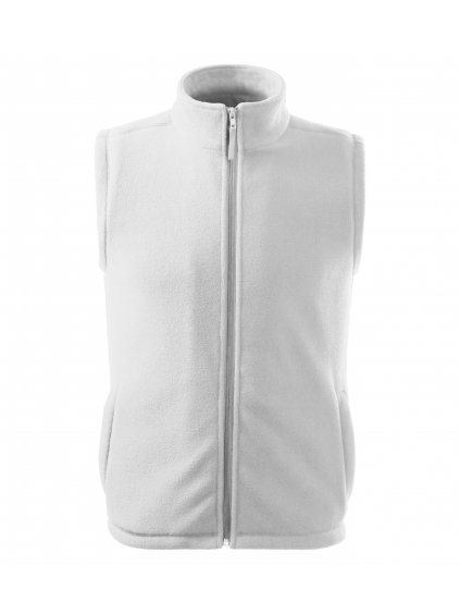 518 00 fleece vesta biela