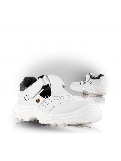 BERN S1 Sandále biele