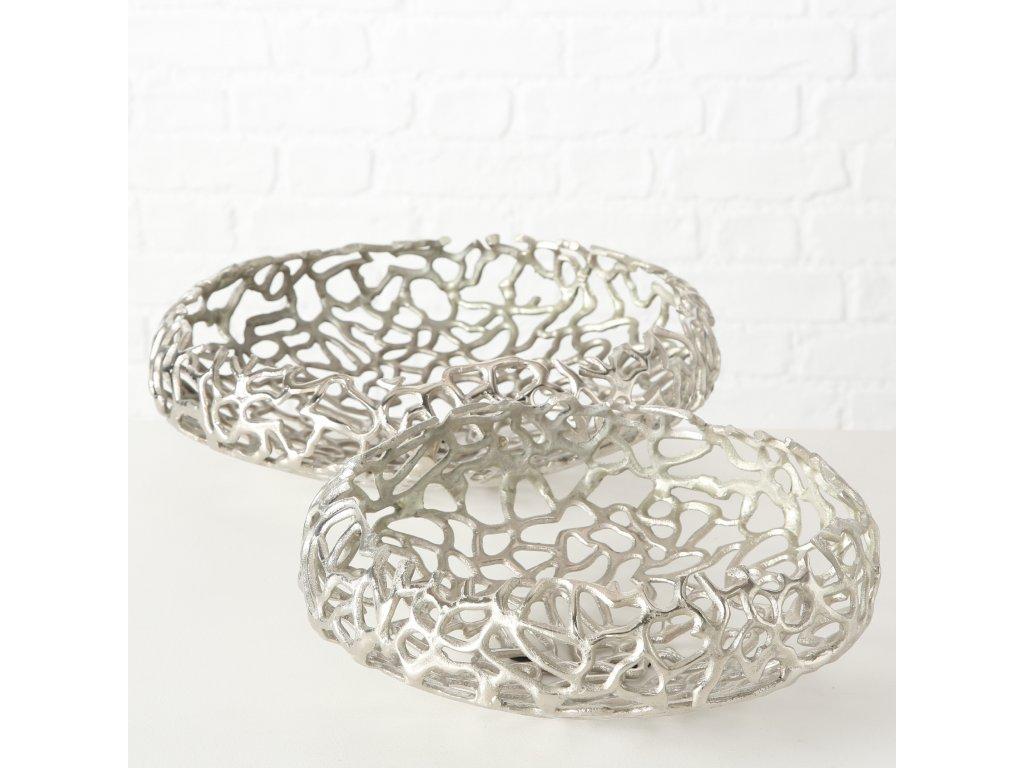 Set dvou hliníkových mís ve stříbrné barvě FRÍDA