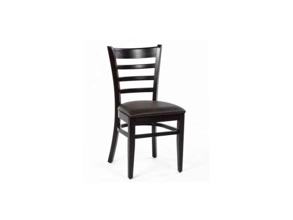 Buková židle XTON 03 UP s koženkovým sedákem