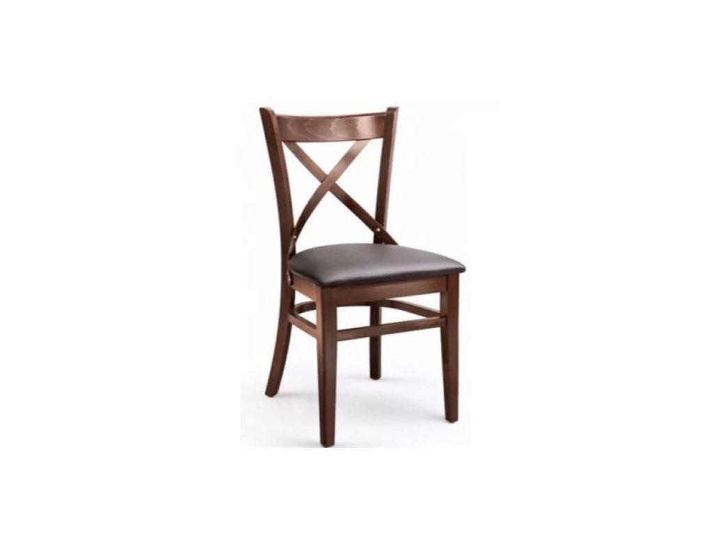Buková židle XTON 04 Up s koženkovým sedákem