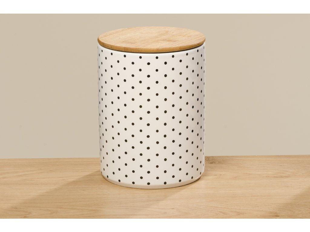 BAMBIE Set dvou keramických dóz tečkované