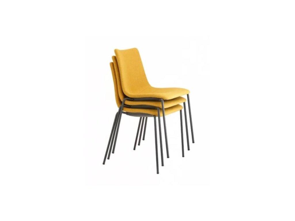 ZEBRANO no.2640 Čalouněná židle žlutá