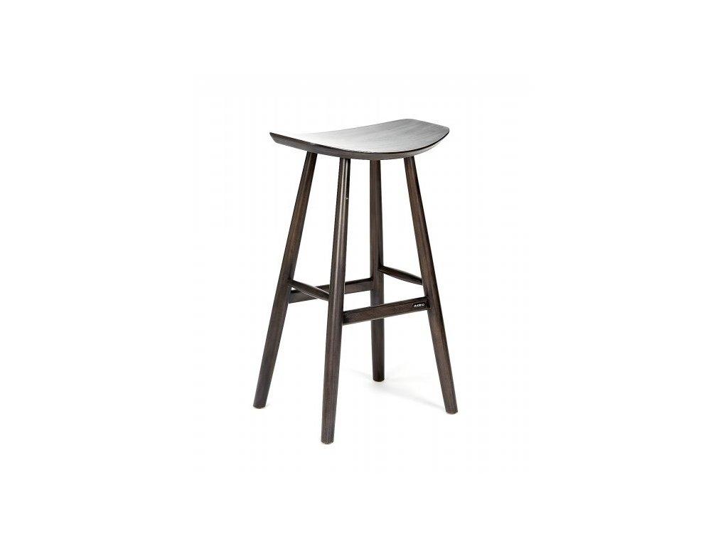 KYOTO Masivní barová židle šedá