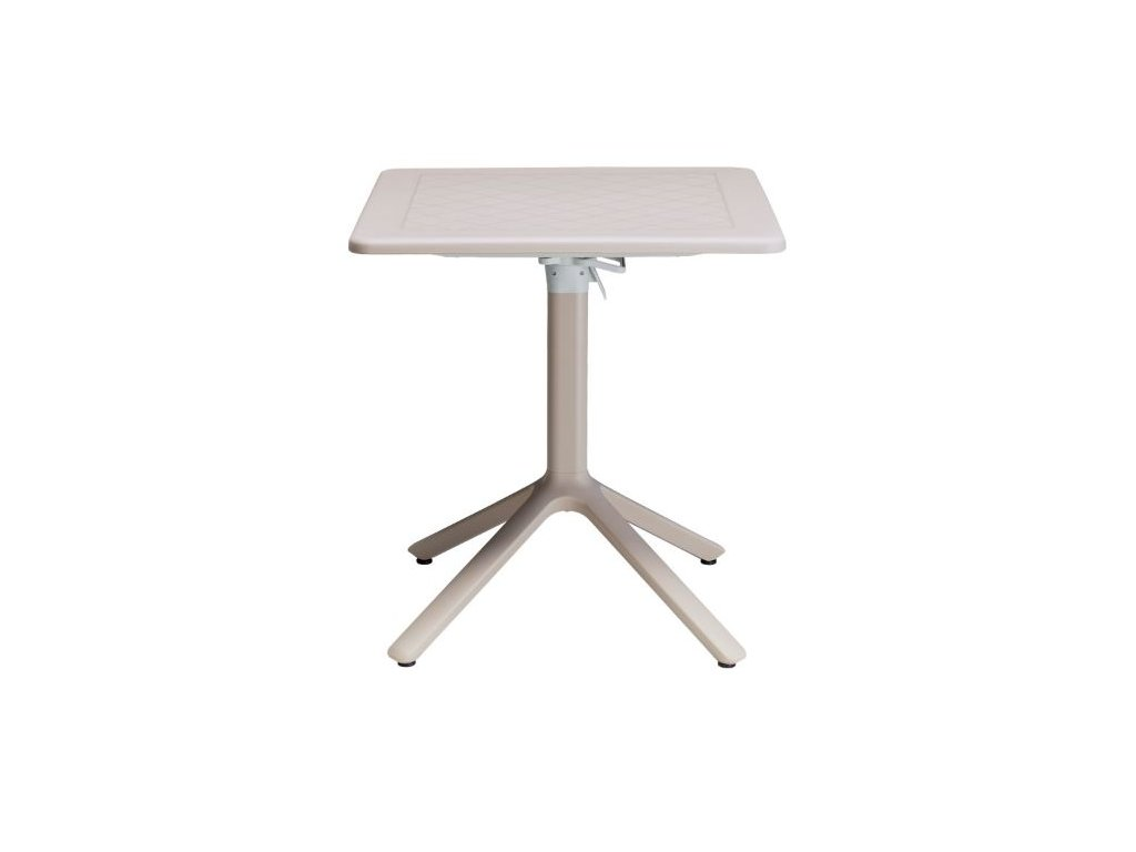 Sklopný plastový stůl 70x70cm, barva Dove grey