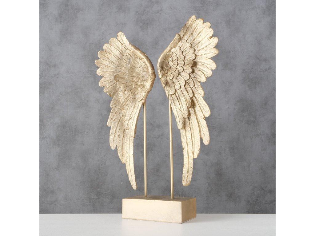 Krásná dekorace ve zlatém tónu ANGEL WINGS