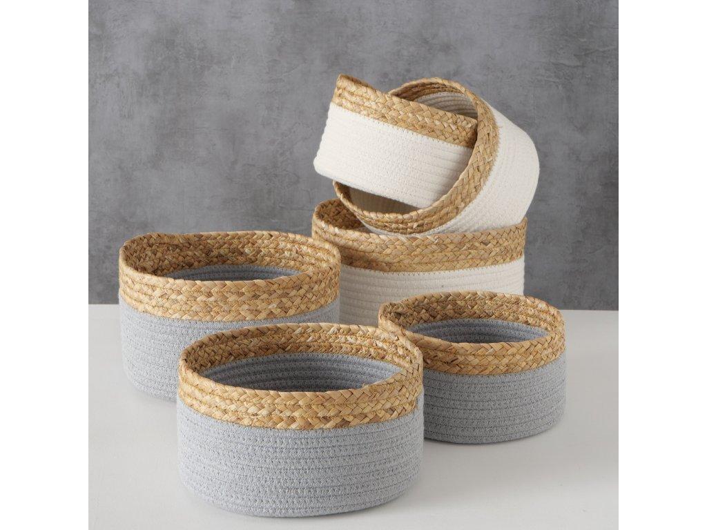 Krásné přírodní košíky LENA - šedá