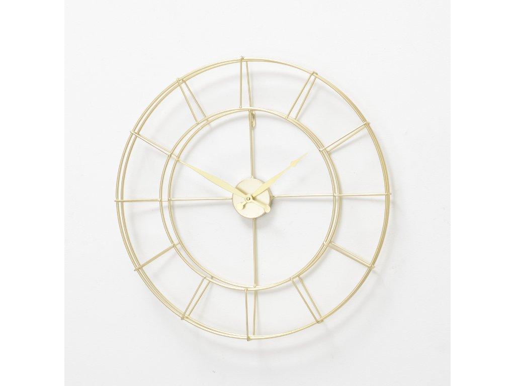 Kovové hodiny ve zlaté barvě ALISHA
