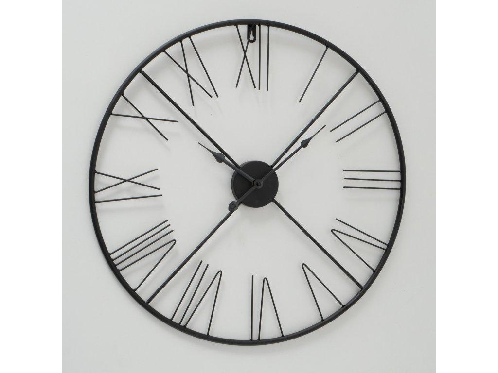 OSLO Kovové hodiny černé